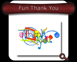 Buy Fun Thank You Note Card
