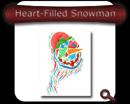 Buy Heart-Filled Snowman Note Card