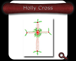 Buy Holly Cross Note Card