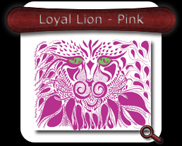 Buy Loyal Lion - Pink Note Card