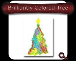 Buy Brilliantly Colored Tree Note Card