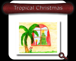 Buy Tropical Christmas Note Card